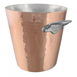 MAUVIEL Kovácsolt réz pezsgőhűtő, rozsdamentes acél fülekkel, Ø 20 cm