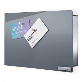 Blomus VELIO kulcstartó szekrény mágneses ajtóval, 20 x 30 cm, szürke