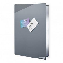 Blomus VELIO kulcstartó szekrény mágneses ajtóval, 40 x 30 cm, szürke