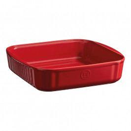 Emile Henry Négyszögletes sütőtál, 24 cm, vörös/burgundy