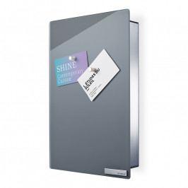 Blomus VELIO kulcstartó szekrény mágneses ajtóval, 30 x 20 cm, szürke