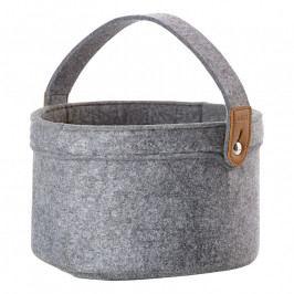 ZONE CRAFT nagyméretű tárolókosár, füllel, grey