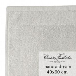 Christian Fischbacher NaturalDream nagyméretű vendégtörölköző, 40 x 60 cm, ezüstszürke, Fischbacher