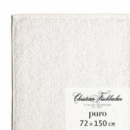 Christian Fischbacher Puro fürdőtörölköző, 72 x 150 cm, krétafehér, Fischbacher