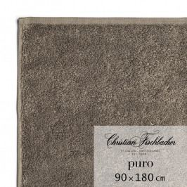 Christian Fischbacher Puro fürdőtörölköző, 90 x 180 cm, kéregbarna, Fischbacher