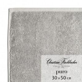 Christian Fischbacher Puro vendégtörölköző, 30 x 50 cm, grafitszürke, Fischbacher