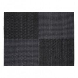 ZONE Tányéralátét, 30 × 40 cm, black square pattern