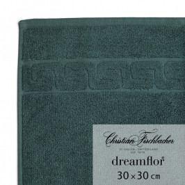 Christian Fischbacher Dreamflor® kéztörlő / arctörlő törölköző, 30 x 30 cm, smaragdzöld, Fischbacher