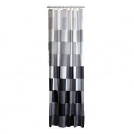 ZONE Kockás zuhanyfüggöny, 180 × 200 cm, black