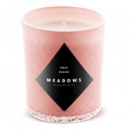 Meadows Rose Desire illatgyertya, medium, púderrózsaszín