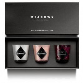 Meadows Mystic Cashmere illatgyertyakészlet díszdobozban, 3 részes, mini