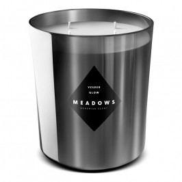 Meadows Vesper Glow illatgyertya, maxi, ezüstszürke