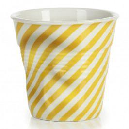 REVOL Froissés espresso pohár, 8 cl, sárga berlingot-csíkokkal, 18 cl