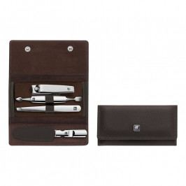 ZWILLING ZWILLING® Classic Inox manikűrkészlet körömvágó ollóval, 4 részes, barna