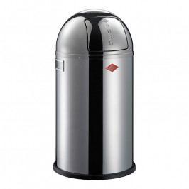 Wesco Pushboy szemeteskosár, 50 liter, fényes rozsdamentes acél