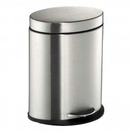 Wesco Szemeteskosár, fürdőszobába való, 6 liter, ovális, matt rozsdamentes acél