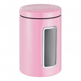 Wesco Élelmiszertároló betekintő nyílással, színes fedővel, rózsaszín