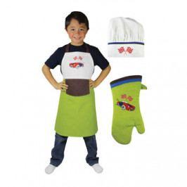 MÜkitchen MiniMÜ® szett gyerekeknek: kötény, edényfogó kesztyű és szakácssapka, Roadster