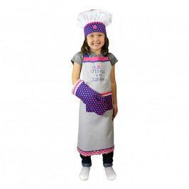 MÜkitchen MiniMÜ® szett gyerekeknek: kötény, edényfogó kesztyű és szakácssapka, Hercegnő