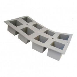 de Buyer Elastomoule® professzionális szilikon sütőforma, 8 db kocka sütéséhez