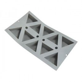 de Buyer Elastomoule® professzionális szilikon sütőforma, 10 db háromszög sütéséhez
