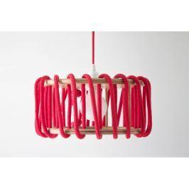 Macaron piros mennyezeti lámpa, 30 cm - EMKO
