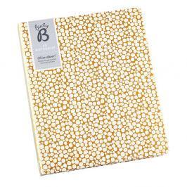 Arany színű jegyzetfüzet belső zsebbel, A5 formátum - Busy B
