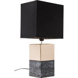 Creation nagyméretű, aranyszínű asztali lámpa fekete ernyővel - Kare Design