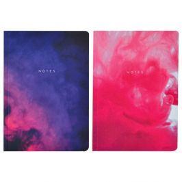 Purples Abstract 2 darabos A5 méretű jegyzetfüzet szett, 100 lapos - Portico Designs