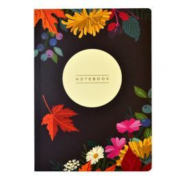 Autumn Floral Flexi A5 méretű jegyzetfüzet, 160 lapos - Portico Designs