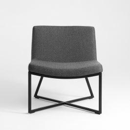 Zero sötétszürke fotel fekete lábakkal - Custom Form