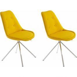 Dylan 2 darab sárga színű étkezőszék - Støraa
