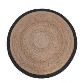 Rug jutaszőnyeg fekete szegéllyel, Ø 150 cm - LABEL51