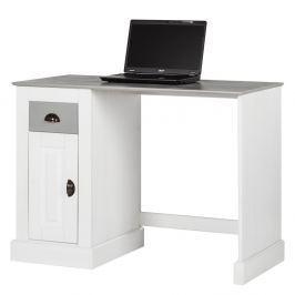 Tommy fehér fenyőfa íróasztal ajtóval - Støraa
