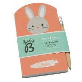 Bunny mini jegyzetfüzet ceruzával - Busy B