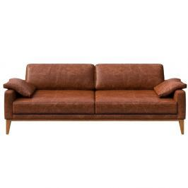 Musso konyak barna 3 személyes bőr kanapé - MESONICA