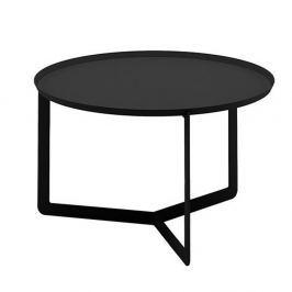 Round fekete tálca-asztal, Ø 60 cm - MEME Design