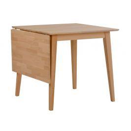 Mimi natúr tölgyfa étkezőasztal lehajtható asztallappal, hossza 80-125 cm - Folke