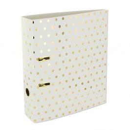 Gold Polka Shimmer Cream iratrendező, nagy - GO Stationery Naplók