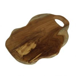 Flate teakfa vágódeszka, hossza 30 cm - HSM collection