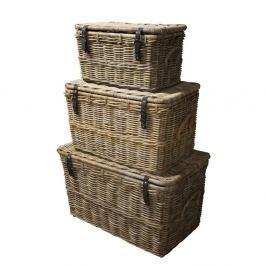 Storage koboo-rattan tárolókosárszett, 3 részes - HSM collection