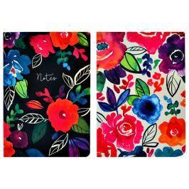 Bold Floral 2 darabos A5 méretű jegyzetfüzet, 100 darabos - Portico Desings