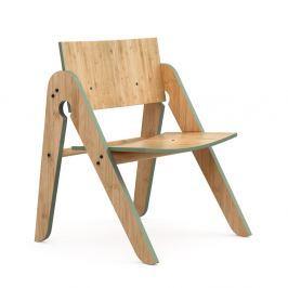 Lilly's Moso-bambusz gyermekszék zöld elemekkel - We Do Wood