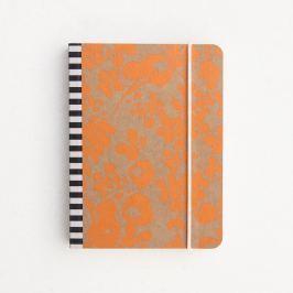 Mono Ditsy Small Chunky Notebook kicsi narancssárga jegyzetfüzet - Caroline Gardner