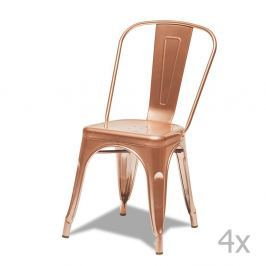 Korona rézszínű szék, 4 db - Furnhouse