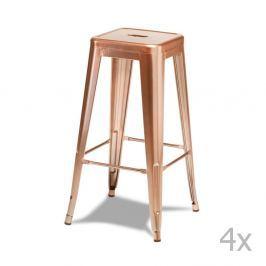 Korona rézszínű bárszék készlet, 4 részes - Furnhouse