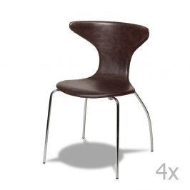 Suki sötétbarna székkészlet, 4 részes - Furnhouse