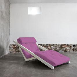 Figo White/Taffy Pink átalakítható fotel - Karup