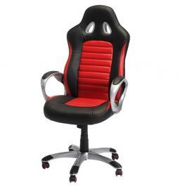 Speedy 2 fekete-piros irodai szék - Furnhouse