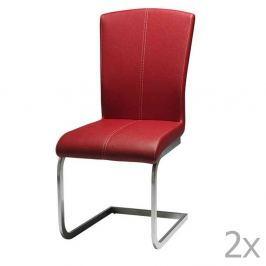 Tulouse piros étkezőbe való székkészlet, 2 részes - Furnhouse